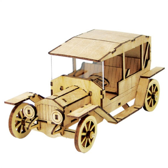 Desktop Wooden Model Kit - Classic Car 1
