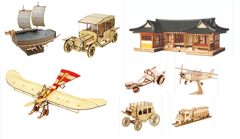 New Product Line] Wooden Model Kits | Arts & Crafts Korea